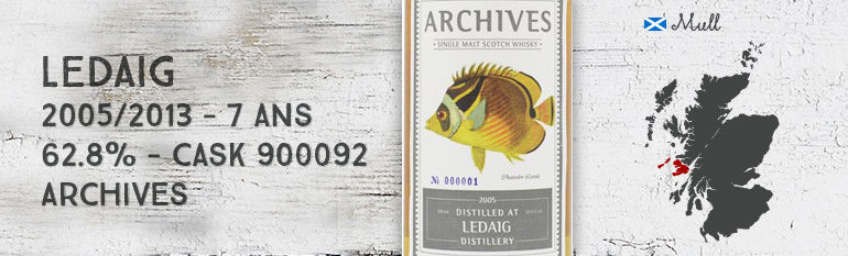 Ledaig – 2005/2013 – 7yo – 62,8 % – Cask 900092 – Archives – The Fishes of Samoa