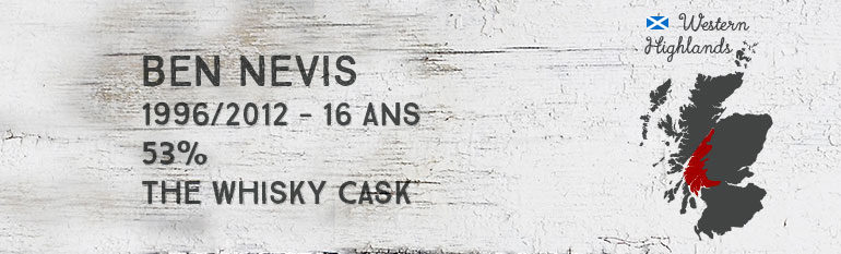 Ben Nevis – 1996/2012 – 16yo – 53% – The Whisky Cask