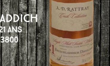 Bruichladdich - 1992/2014 - 21yo - 57% - Cask 3800 - A.D Rattray