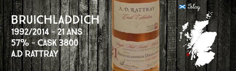 Bruichladdich – 1992/2014 – 21yo – 57% – Cask 3800 – A.D Rattray
