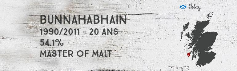 Bunnahabhain 1990/2011 – 20yo – 54,1% – Master of Malt