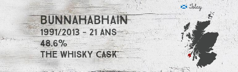 Bunnahabhain – 1991/2013 – 21yo – 48,6% – The Whisky Cask
