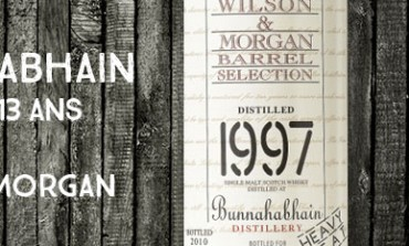 Bunnahabhain 1997/2010 - 13yo - 46 % - Wilson & MorganHeavy peat