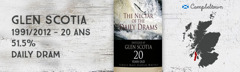 Glen Scotia 1991/2012 – 20yo – 51,5 % – DailyDram