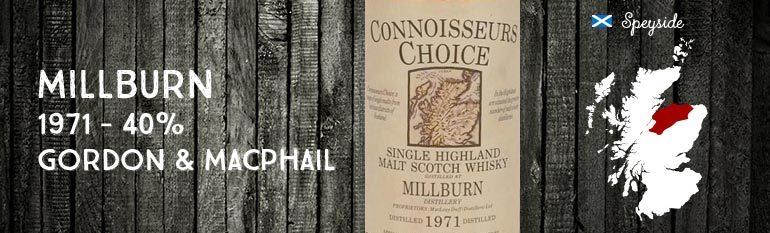 Millburn – 1971 – 40% – Gordon & Macphail Connoisseurs Choice Old Map Label