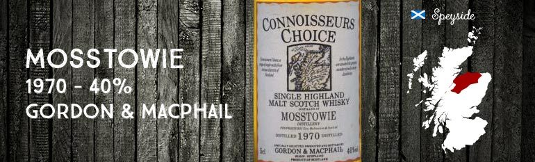 Mosstowie – 1970 – 40% – Gordon & Macphail Connoisseurs Choice Old Map Label