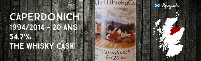 Caperdonich – 1994/2014 – 20yo – 54,7% – The Whisky Cask