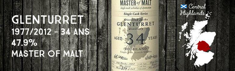 Glenturret 1977/2012 – 34yo – 47,9 % – MasterofMalt