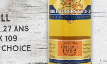Littlemill - 1985/2012 - 27yo - 46% - Cask 109 - The Vintage Malt Whisky Co Ltd. The Cooper's Choice