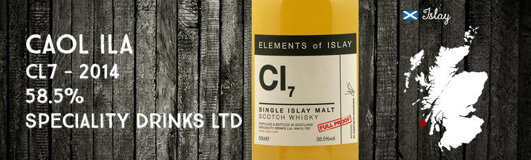 Caol Ila – CI7 – 2014 – Elements of Islay – Speciality drinks Ltd – 58,5%