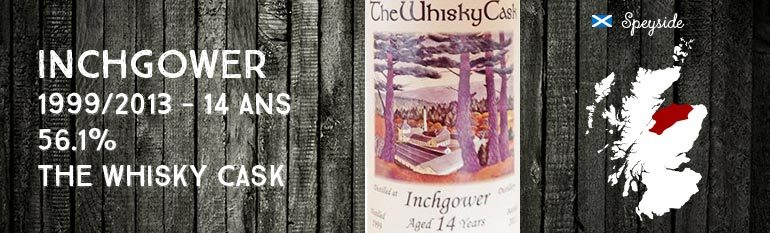 Inchgower – 1999/2013 – 14yo – 56,1% – The Whisky Cask