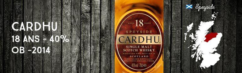 Cardhu – 18yo – 40% – OB – 2014