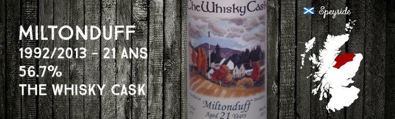 Miltonduff – 1992/2013 – 21yo – 56,7% – The Whisky Cask