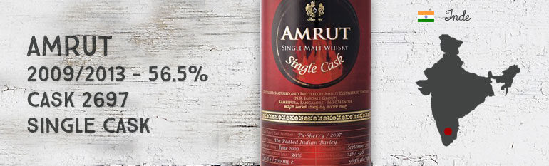 Amrut – 2009/2013 – Single Cask – 56,5% – Cask 2697 – OB