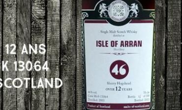 Arran - 2001/2013 - 12yo - 46% - Cask 13064 - Malts of Scotland
