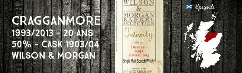 Cragganmore – Twenty – 1993/2013 – 20yo – 50% – Cask 1903/04 – Wilson & Morgan – Barrel Selection