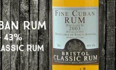 Fine Cuban Rum - 2003/2013 -  43% - Bristol Classic Rum