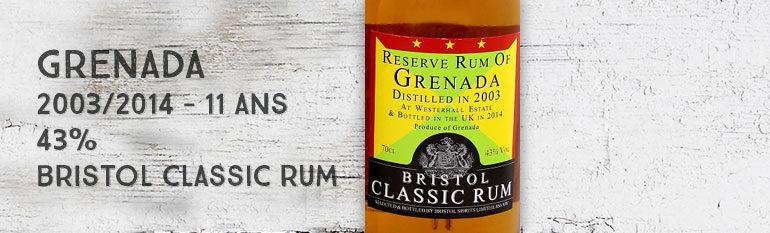 Reserve Rum of Grenada – 2003/2014 – 11yo – 43% – Bristol Classic Rum