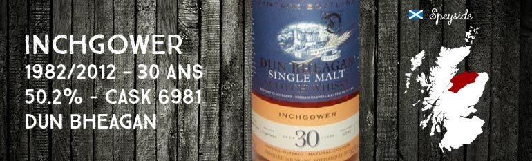 Inchgower – 1982/2012 – 30yo – 50,2% – Cask 6981- Ian McLeod Dun Bheagan