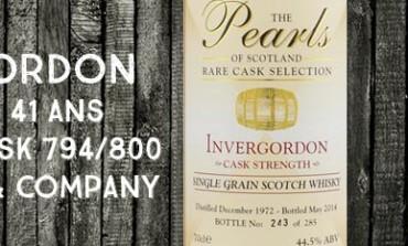 Invergordon - 1972/2014 - 41yo - 44,5% -  Gordon & Company The pearls of Scotland