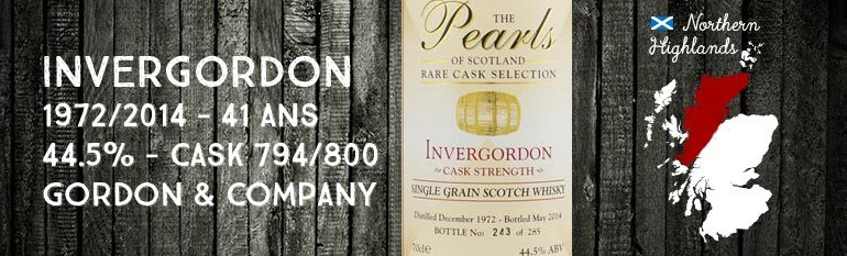 Invergordon – 1972/2014 – 41yo – 44,5% –  Gordon & Company The pearls of Scotland