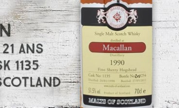 Macallan - 1990/2011 - 21yo - 51,5% - Cask  1135 - Malts of Scotland