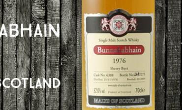 Bunnahabhain - 1976/2009 - 52% - Cask 6388 - Malts of Scotland