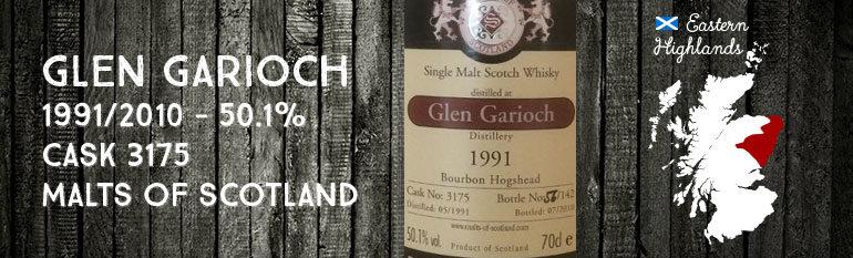 Glen Garioch – 1991/2010 – 50,1% – Cask 3175 – Malts of Scotland