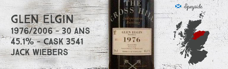 Glen Elgin – 1976/2006 – 30yo – 45,1% – Cask 3541 – Jack Wiebers The Cross Hill
