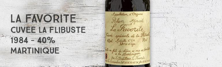 La Favorite – Cuvée La Flibuste – 1984 – 40% – Hors d'âge – Martinique