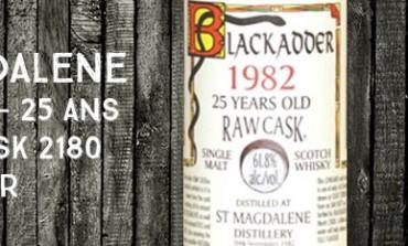 St-Magdalène - 1982/2008 - 25yo - 61,8% - Cask 2180 - Blackadder Raw Cask