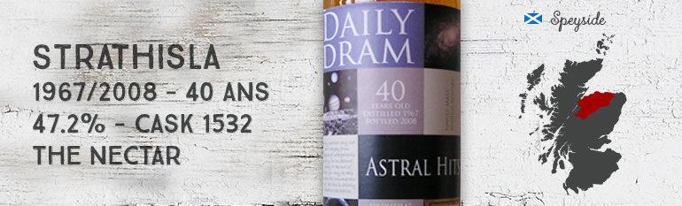 Strathisla – 1967/2008 – 40yo – 47,2% – Cask 1532 – The Nectar Daily Dram Astral Hits
