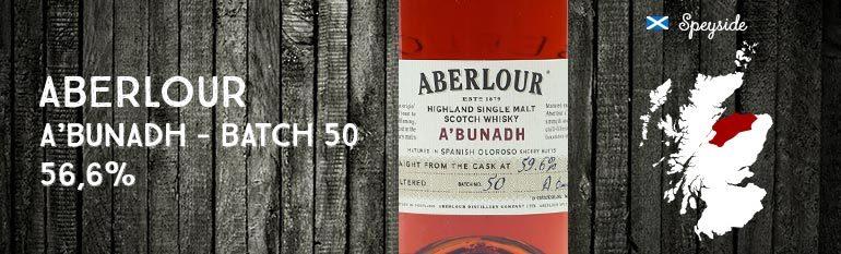 Aberlour – A'bunadh – Batch 50 – 59,6%