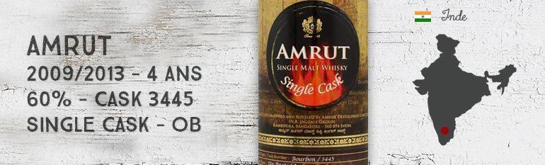 Amrut – 2009/2013 – 4yo – 60% – Cask 3445 – OB