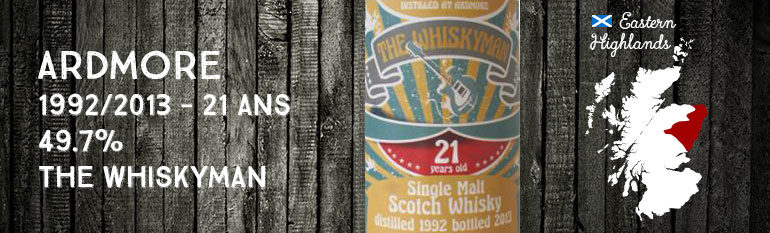 Ardmore – 1992/2013 – 21yo – 49,7% – The Whiskyman