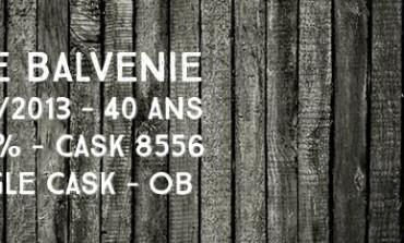 Balvenie - 1973/2013 - 40yo - 47,2% - Cask 8556 - Single cask - OB