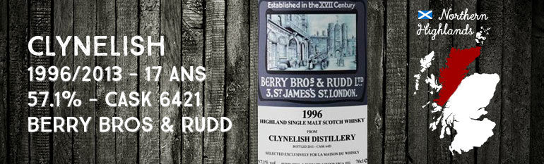 Clynelish -1996/2013 – 17yo – 57,1% – Cask 6421 – Berry Bros & Rudd