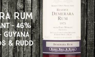 Demera Rum - Port Morant - 1975/2007 - Berry Bros & Rudd - 46 % - Guyana