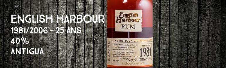 English Harbour – 1981/2006 – 25yo – 40% – Antigua
