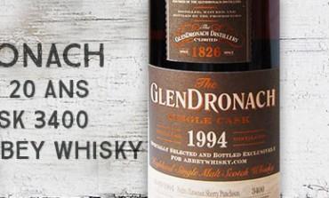 Glendronach - 1994/2014 - 20yo - 54,8% - Cask 3400 - OB for Abbey Whisky
