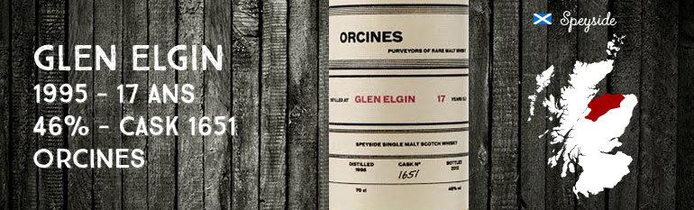 Glen Elgin – 1995 – 17yo – 46% – Cask 1651 – Orcines