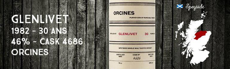 Glenlivet – 1982 – 30yo – 46% – Cask 4686 – Orcines