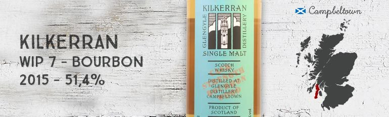 Kilkerran – Glengyle – Work in Progress 7th Release – Bourbon Wood – 54,1%