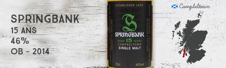 Springbank – 15yo – 46% – OB – 2014