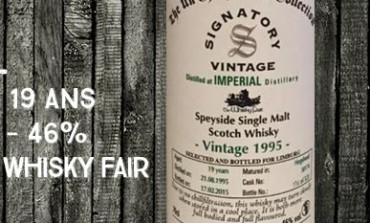 Imperial - 1995/2015 - 19 yo - cask 50174 - 46% - Signatory Vintage for The Whisky Fair