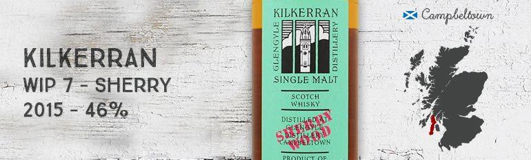 Kilkerran – Work in Progress 7th Release – Sherry Wood – 46%
