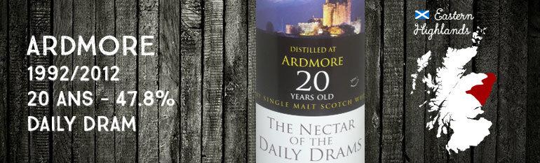Ardmore – 1992/2012 – 20yo – Daily Dram – 47.8%