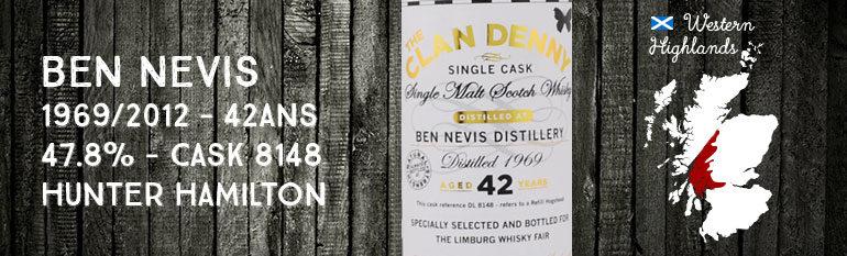 Ben Nevis – 1969/2012 – 42yo – 47,8% – Cask 8148 – Hunter Hamilton – The Clan Denny – for Limburg Whisky Fair