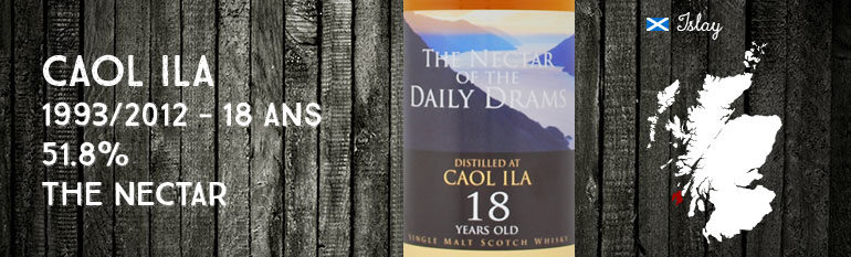 Caol Ila – 1993/2012 – 18yo – 51,8% – The Nectar – Daily Dram – Sherry Cask