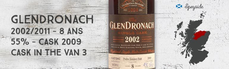Glendronach 8yo – 2002/2011 – OB for « Cask in a van 3 » – 55%